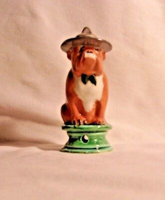 Dog H607 -15.2872.2  Ceramic Sargent Bull Dog GREEN TIE Pie Bird
