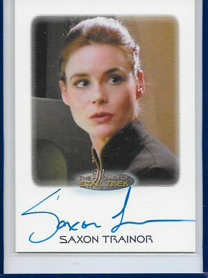 2017 Women of STAR TREK 50th Anniversary Autograph - SAXON TRAINOR
