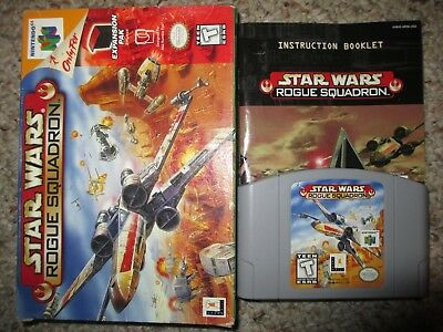 Star Wars: Rogue Squadron  (Nintendo 64, 1998) N64 Complete in Box GOOD