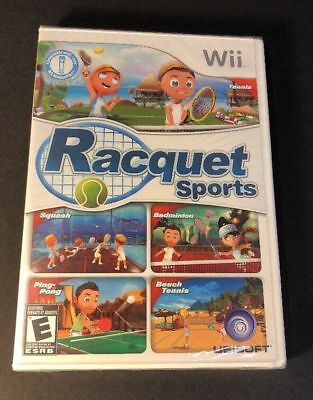 Wii Racquet Sports (Nintendo Wii, 2010) NEW FACTORY SEALED