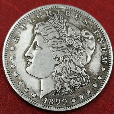 1899 US Morgan Coin One Morgan Dollar American Eagle Coin Silver Color Commemora