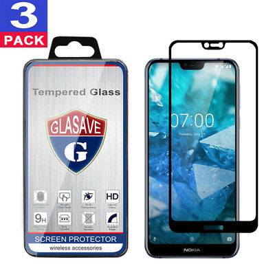 (3 Pack) GLASAVE Nokia 7.1 FULL COVER Tempered Glass Screen Protector
