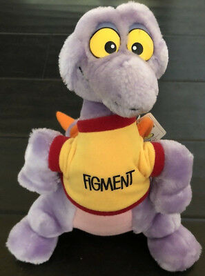 Vintage Walt Disney World Epcot FIGMENT 10'' Purple Dragon Plush Toy WITH TAGS