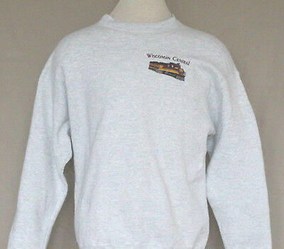 Wisconsin Central Locomotive Heavyweight Sweatshirt Mens-XL Embroidered NWOT