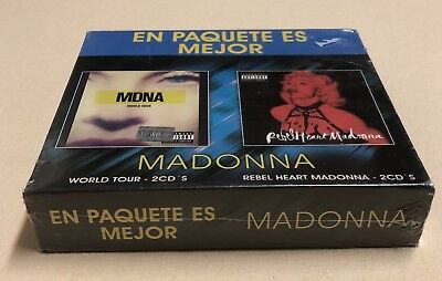 Madonna MEXICO ONLY Rebel Heart Limited Edition & MDNA Tour Box  Exclusive Slip