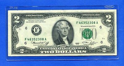 $2 ATLANTA 1976 BICENTENNIAL Inspected #F/A Two Dollar Note + Currency HOLDER