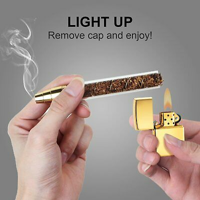NEW Design 3 in 1 Smoking Twisty Glass Blunt  With Cleaning Kit Gold for PAX