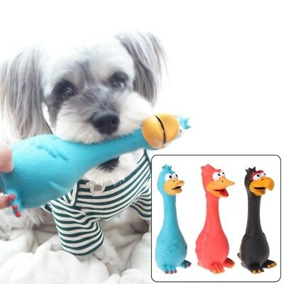 Pet Toys Screaming Chicken Latex Squeaky Sound Dogs Cats Decompression