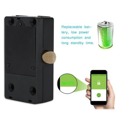 Smart Hidden Digital Electronic Bluetooth Cabinet Door Drawer Lock Black