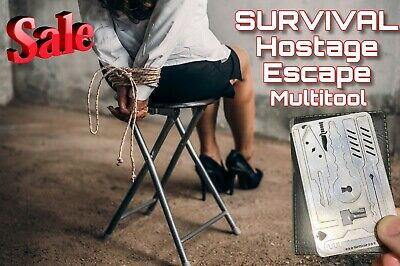 Escape Hostage Survival Card  Credit Card Size Suitable for Travellers