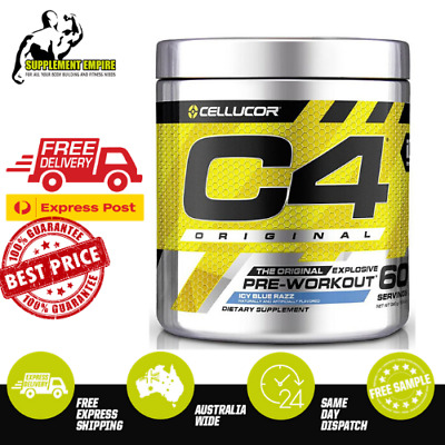 Cellucor C4 GEN4 NEWEST VERSION Pre Workout Increase Energy Preworkout 60 serves