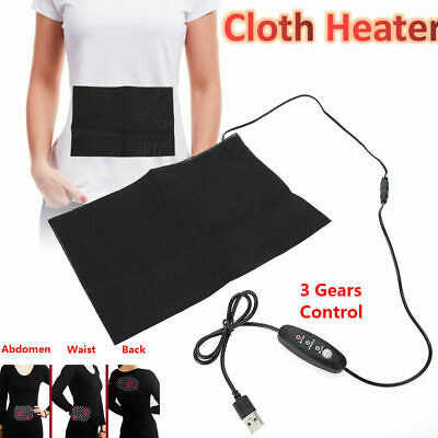 Electric USB Charging Cloth Heater Heating Pad Waist Belly Warming Mat
