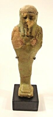 Large Ancient Egyptian Green Faince Ushabti - Late Period - Circa 664 to 332 BC
