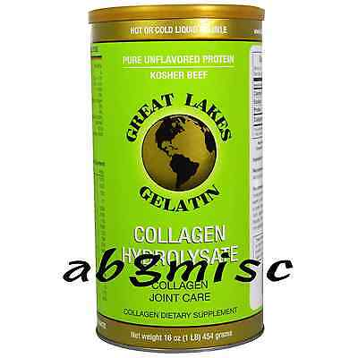 Great Lakes Gelatin, Collagen Hydrolysate, Joint Care - 454g / 16oz