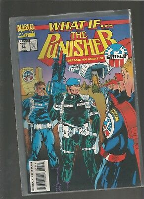 What If #57 Vf/nm  The Punisher Became An Agent Of Shield Combine Ship