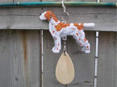 Pointer dog crate tag or hang anywhere handmade pet sign ornament art, English
