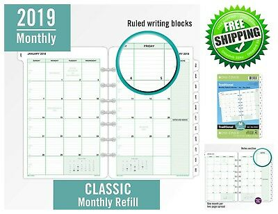 photo about Day Organizer known as Working day-TIMER PLANNER REFILL 2019 Every month 5-1/2\u201d x 8-1/2\