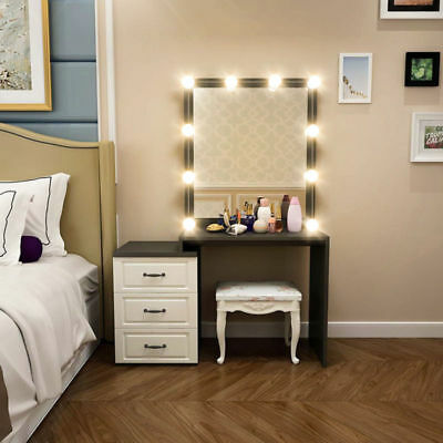 Lighted Vanity Mirror Hollywood Style Makeup Tabletops Touch Control LED Bulbs