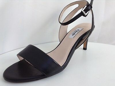 5edf2207af9 CLARKS WOMENS AMALI Jewel Black Leather Sandals size UK 5.5D ...