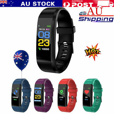 Fitness Activity Tracker Heart Rate Monitor Bracelet Pedometer Smart Watch NW