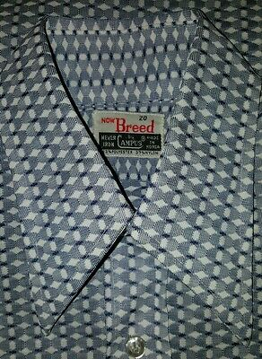 Vintage Now Breed By Campus Disco Style Club Shirt Euc! Size 20