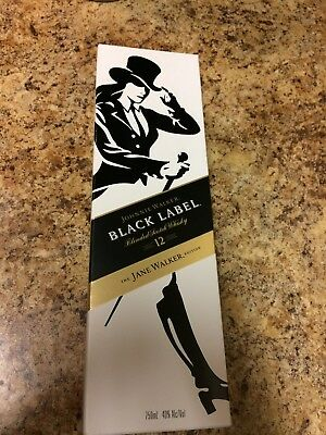 Johnnie Walker Black Label  Limited Edition JANE WALKER Collectible EMPTY BOX