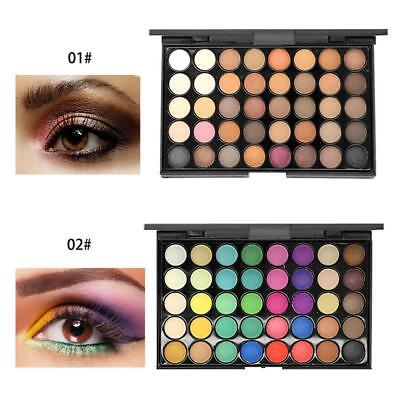40 Color Cosmetic Matte Eyeshadow Cream Eye Shadow Makeup Palette Shimmer Set US