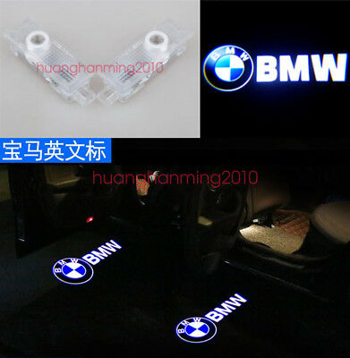 2X CREE Door Ghost Shadow Projector LED Lights For BMW 1/3/5/7 Series X3 X5 X6