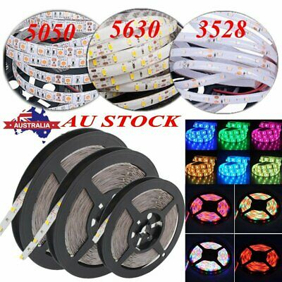 DC 12V 5M-50M 5050 5630 3528 SMD Waterproof White RGB LED Flexible Strip Lights