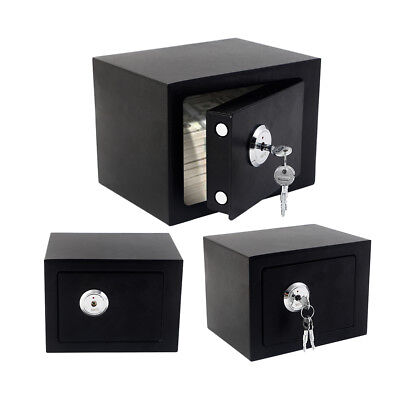 Wall-in Security Box Home Safes Key Lock Steel Office Money Cash Saving Storage