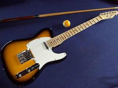 Scalloped Fire-guitars T - caster, sunburst, playing  a la Yngwie, Ritchy & Co !