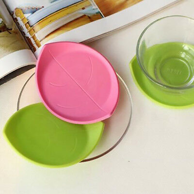 Leaf Shaped Silicone Cup Mug Mat Tea Hot Pad Drink Holder Placemat LH