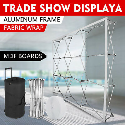 8ft custom pop up banner trade show display booth backdrop wall exhibits