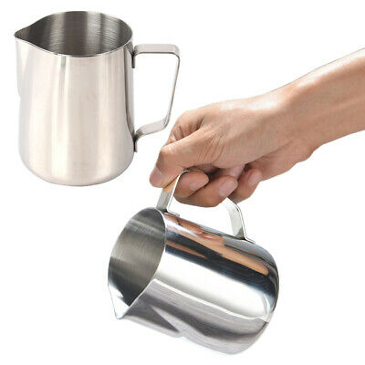 Pull Cup Stainless Steel Milk Frothing Jug Frother Coffee Latte Container