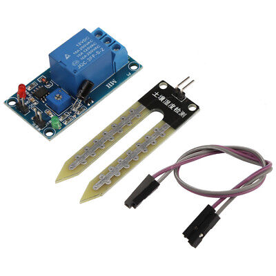 DC12V Soil Humidity Moisture Sensor Controller Relay Module Automatic Watering