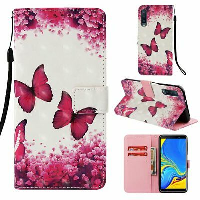 For Samsung A6 A7 A8 A9 2018 Flip Wallet Leather Magnetic Stand Card Case Cover