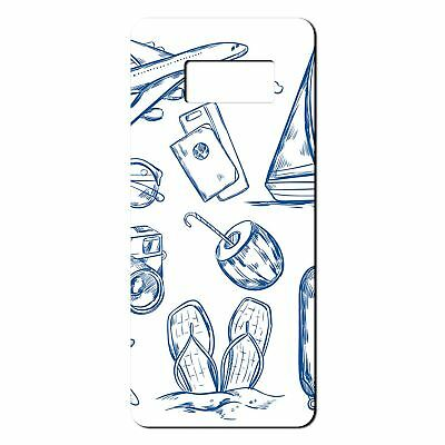 For Samsung Galaxy S8 Silicone Case Travel Holiday Pattern - S4750
