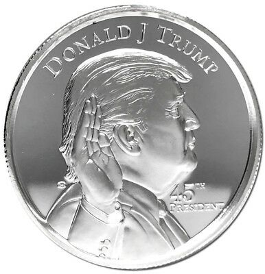 Donald Trump 45th President of the USA 2 Oz .999 Pure Solid Silver ArtRound/Coin