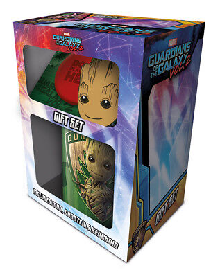 Guardians Of Galaxy Groot Mug, Coaster & Keychain Set New Gift Boxed Official