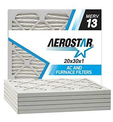Aerostar 20x30x1 MERV 13 Pleated Air Filter, Pleated (Pack of 6) FREE2DAYSHIP
