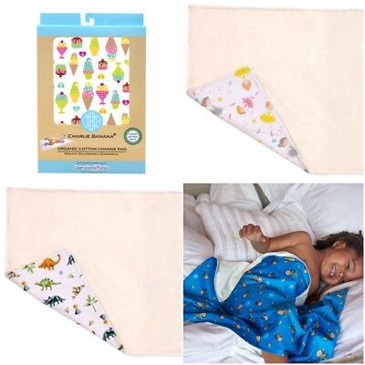 Changing Pad Charlie Banana Mat Washable Fabric Organic Cotton Waterproof Travel