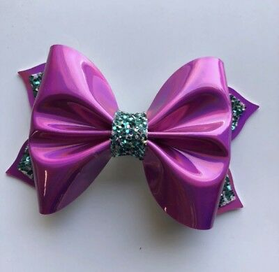 plastic hair bow template to make 3 inch pinch bow double tails