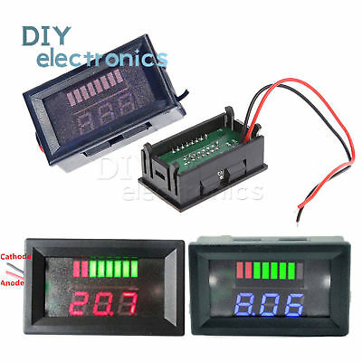 Charge Level Red/Blue Indicator Voltmeter 6V/12V/24V/36V/48V Lead-acid Battery