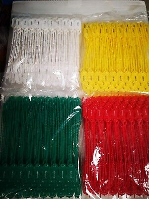 Plastic Security Tags Numbered Pull Ties Secure Anti -Tamper Seals