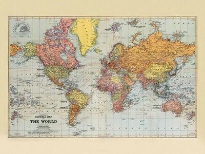 Stanfords Classic General Map Of The World