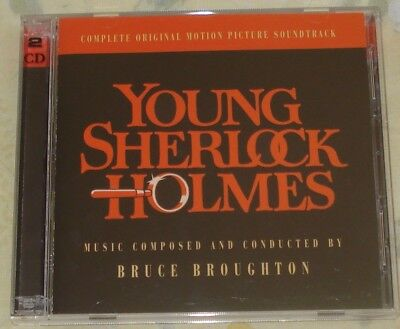 YOUNG SHERLOCK HOLMES (Bruce Broughton) original mint promo 2-cd (2002)  OOP!
