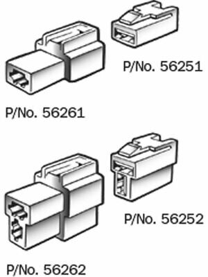 Narva 3 Way Female Quick Connector Housing Pack of 10 (56263)
