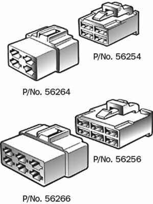 Narva 8 Way Female Quick Connector Housing Pack of 10 (56268)