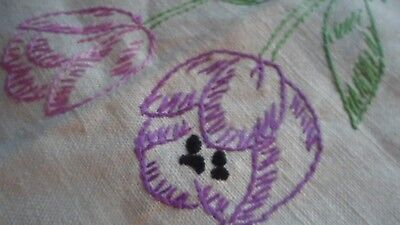 large vintage embroidered table cloth