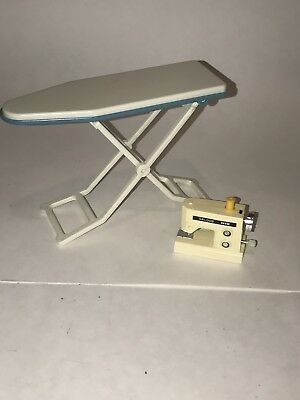 Vintage IMCO Hong Kong Galoob IRONING BOARD & SEWING MACHINE Barbie Dolls Japan